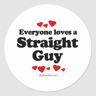 Cada uno ama una camiseta recta del individuo pegatina redonda