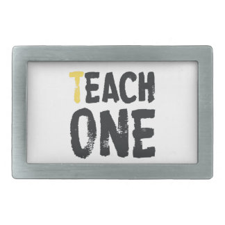 Cada uno enseña a uno hebilla de cinturón rectangular