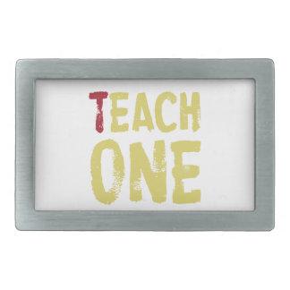 Cada uno enseña a uno hebilla cinturón rectangular