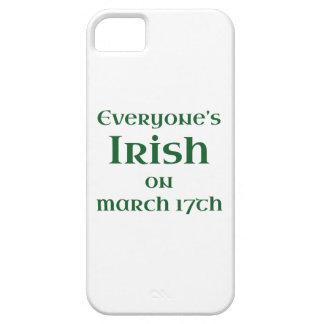 Cada uno irlandés el 17 de marzo funda para iPhone 5 barely there