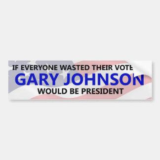 Cada uno necesita perder su voto en Gary Johnson Pegatina Para Auto