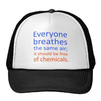 Cada uno respira el mismo aire; gorras de camionero