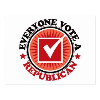 Cada uno vota a un republicano postales