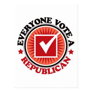 Cada uno vota a un republicano tarjeta postal