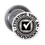 Cada uno vota a una independiente pin