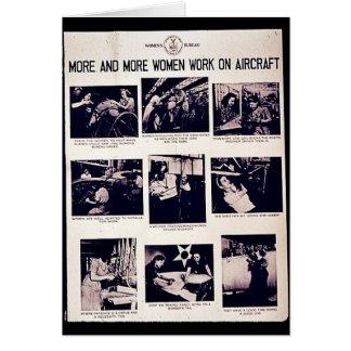 Cada vez más trabajo de las mujeres sobre los avio tarjetón