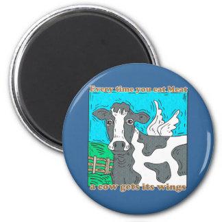 Cada vez que usted come la carne una vaca consigue imán redondo 5 cm