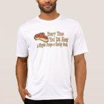cada vez que usted come las camisetas de la carne