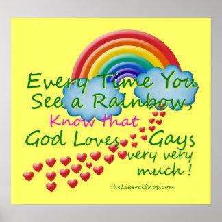 Cada vez que usted ve un poster del arco iris