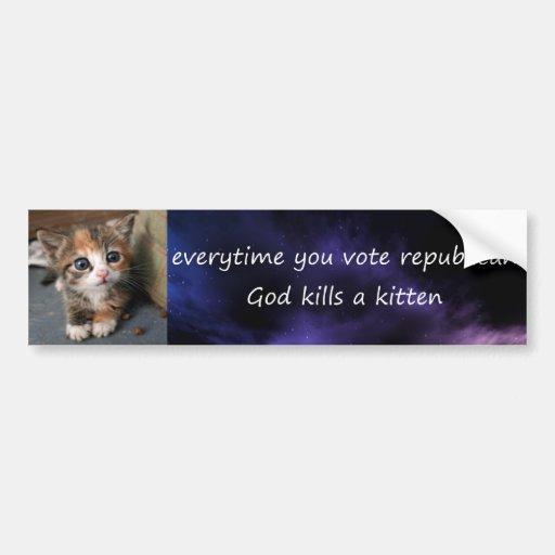 cada vez que usted vota al republicano etiqueta de parachoque