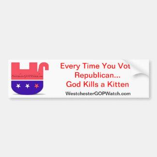 Cada vez que usted vota dios republicano mata a un etiqueta de parachoque