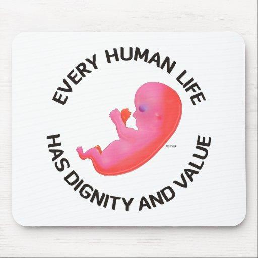 Cada vida humana alfombrilla de ratón