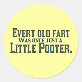 Cada viejo Fart era una vez apenas un pequeño Pegatina Redonda