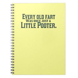 Cada viejo Fart era una vez apenas un pequeño Poot Cuadernos