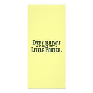 Cada viejo Fart era una vez apenas un pequeño Poot Diseño De Tarjeta Publicitaria