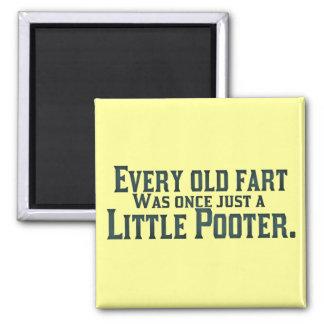 Cada viejo Fart era una vez apenas un pequeño Poot Imán Cuadrado