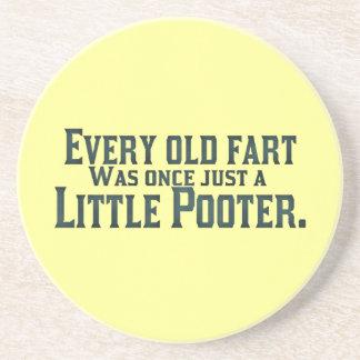 Cada viejo Fart era una vez apenas un pequeño Poot Posavasos Cerveza