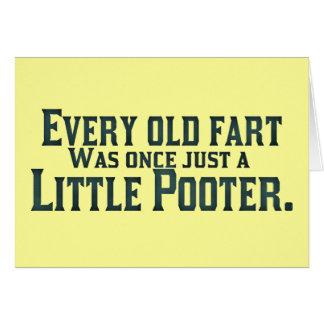 Cada viejo Fart era una vez apenas un pequeño Poot Tarjeta De Felicitación