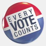 Cada voto cuenta al pegatina