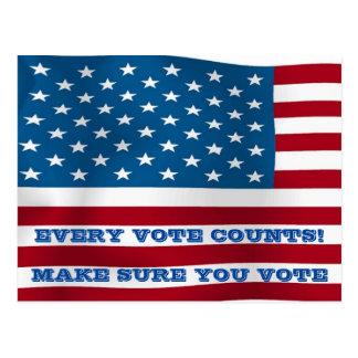 Cada voto cuenta - la postal