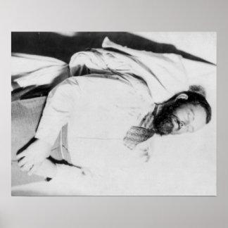 Cadáver de la fotografía proscrita de Jesse James Poster