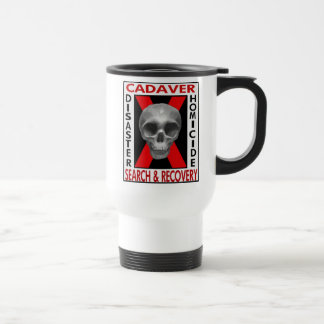 Cadaver Search & Recovery  (White) 15 Oz Stainless Steel Travel Mug