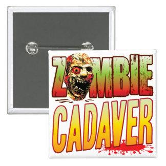 Cadaver Zombie Head 2 Inch Square Button
