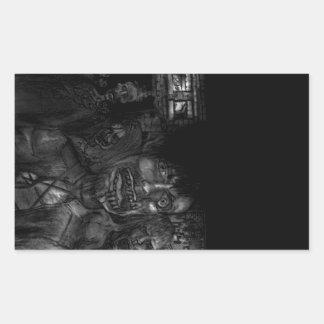 Cadáveres no consagrados agitados pegatina rectangular