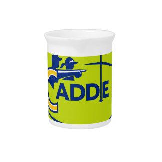 Caddie and Golfer Golf Course Icon Beverage Pitcher