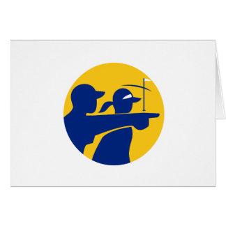 Caddie and Golfer Icon Card