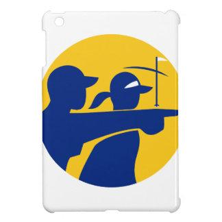 Caddie and Golfer Icon iPad Mini Case