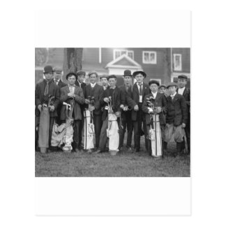Caddies de Baltusrol 1900s tempranos Postal