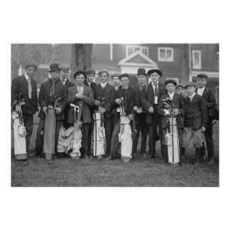 Caddies del golf de Baltusrol 1900s tempranos Impresiones