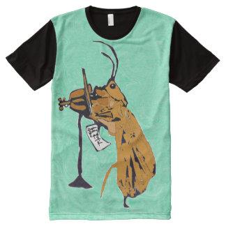 Caddisfly Konrad Plays The Violin, In Color All-Over-Print T-Shirt