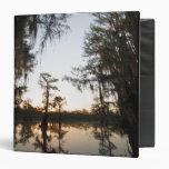 Caddo Lake at sunrise 3 Ring Binder