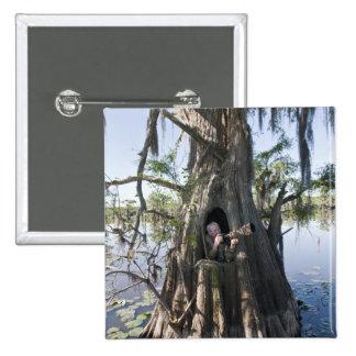 Caddo Lake, hunting blind Pinback Button