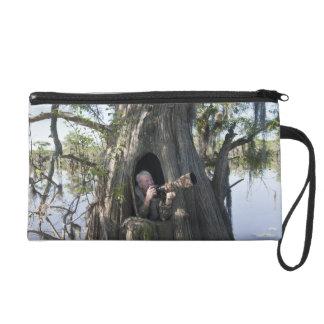Caddo Lake, hunting blind Wristlet