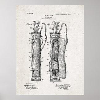 Caddy Bag Patent Print Poster
