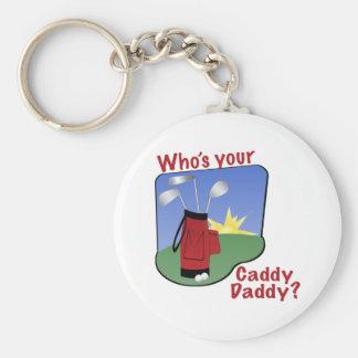 Caddy Daddy Golfer Gift Keychain