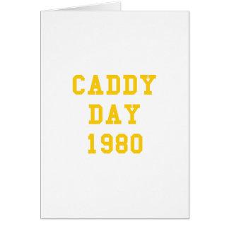 Caddy Day 1980 Card