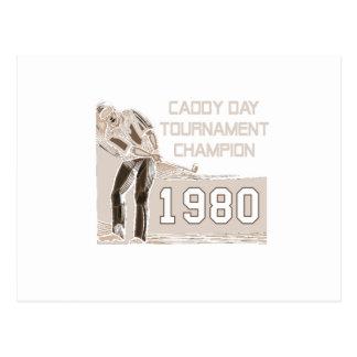 Caddy Day Tournament Champion Postcard