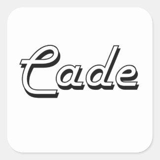Cade Classic Retro Name Design Square Sticker
