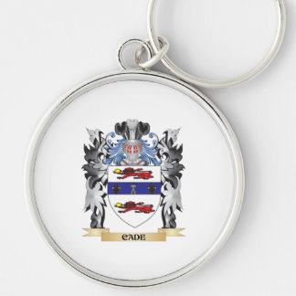 Cade Coat of Arms - Family Crest Silver-Colored Round Keychain