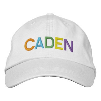 CADEN Colorful Embroidered Name on Hat