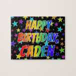 "[ Thumbnail: ""Caden"" First Name, Fun ""Happy Birthday"" Jigsaw Puzzle ]"