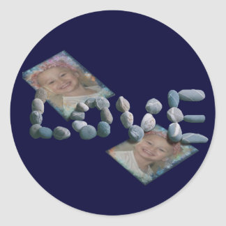 Caden/Love Classic Round Sticker