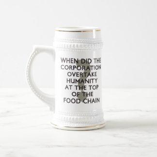 Cadena alimentaria corporativa jarra de cerveza