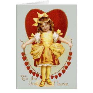Cadena de corazones tarjeta de felicitación