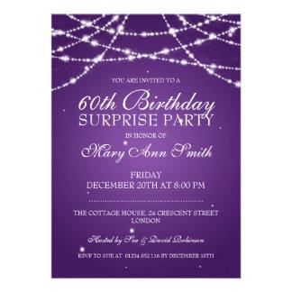 Cadena de fiesta de cumpleaños de la sorpresa de comunicado