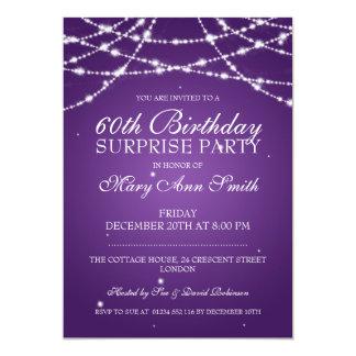 Cadena de fiesta de cumpleaños de la sorpresa de invitación 12,7 x 17,8 cm